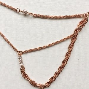 J.Crew Long Layering Necklace in Rose Gold